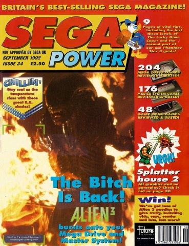 Sega Power Issue 34 (September 1992)