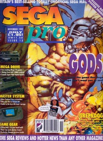 Sega Pro 13 (November 1992)
