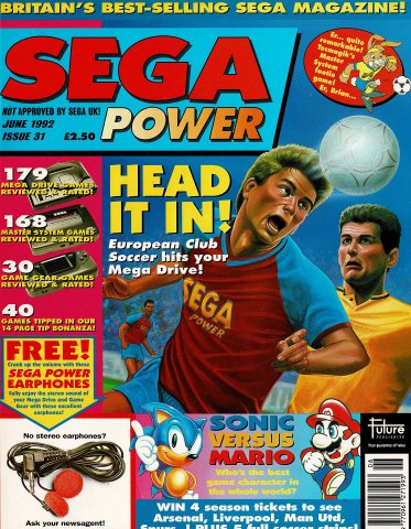 Sega Power Issue 31 (June 1992)