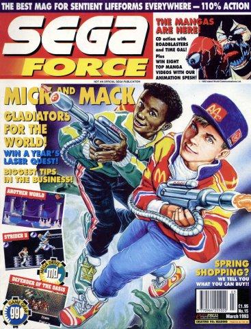Sega Force 15 (March 1993)