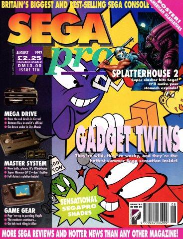 SEGA Pro 10 (August 1992)
