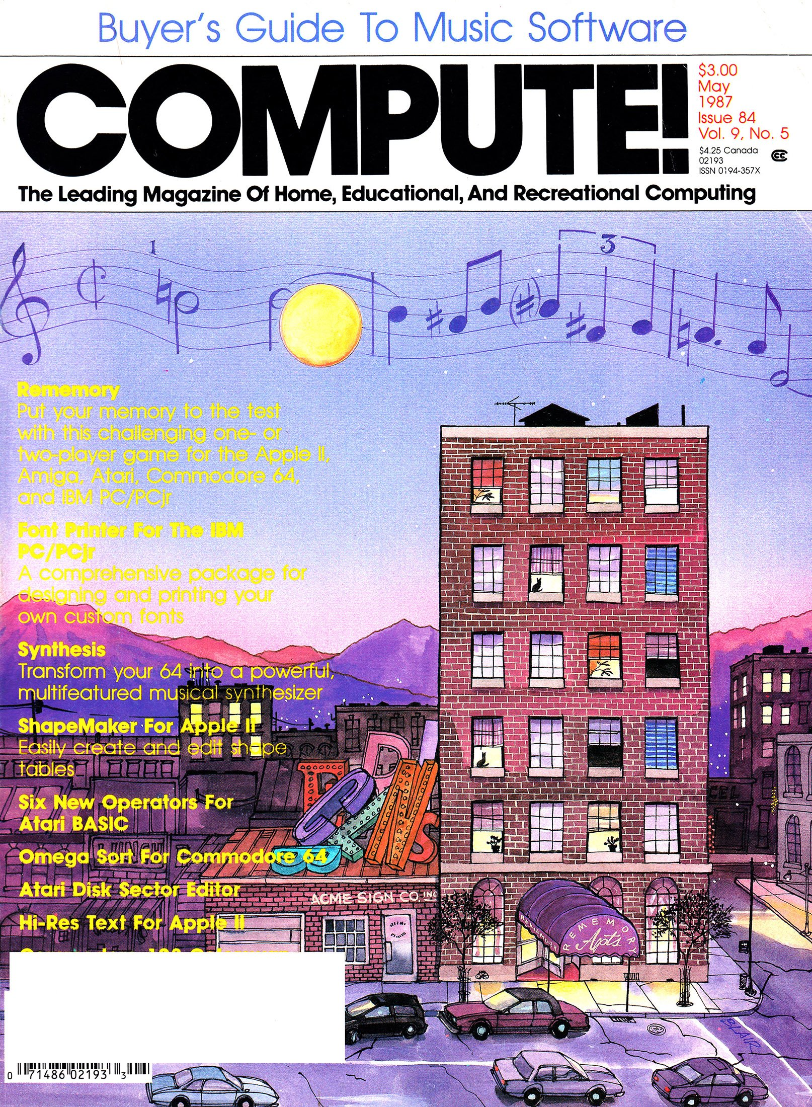 Compute! Issue 084 Vol. 9 No. 5 (May 1987)