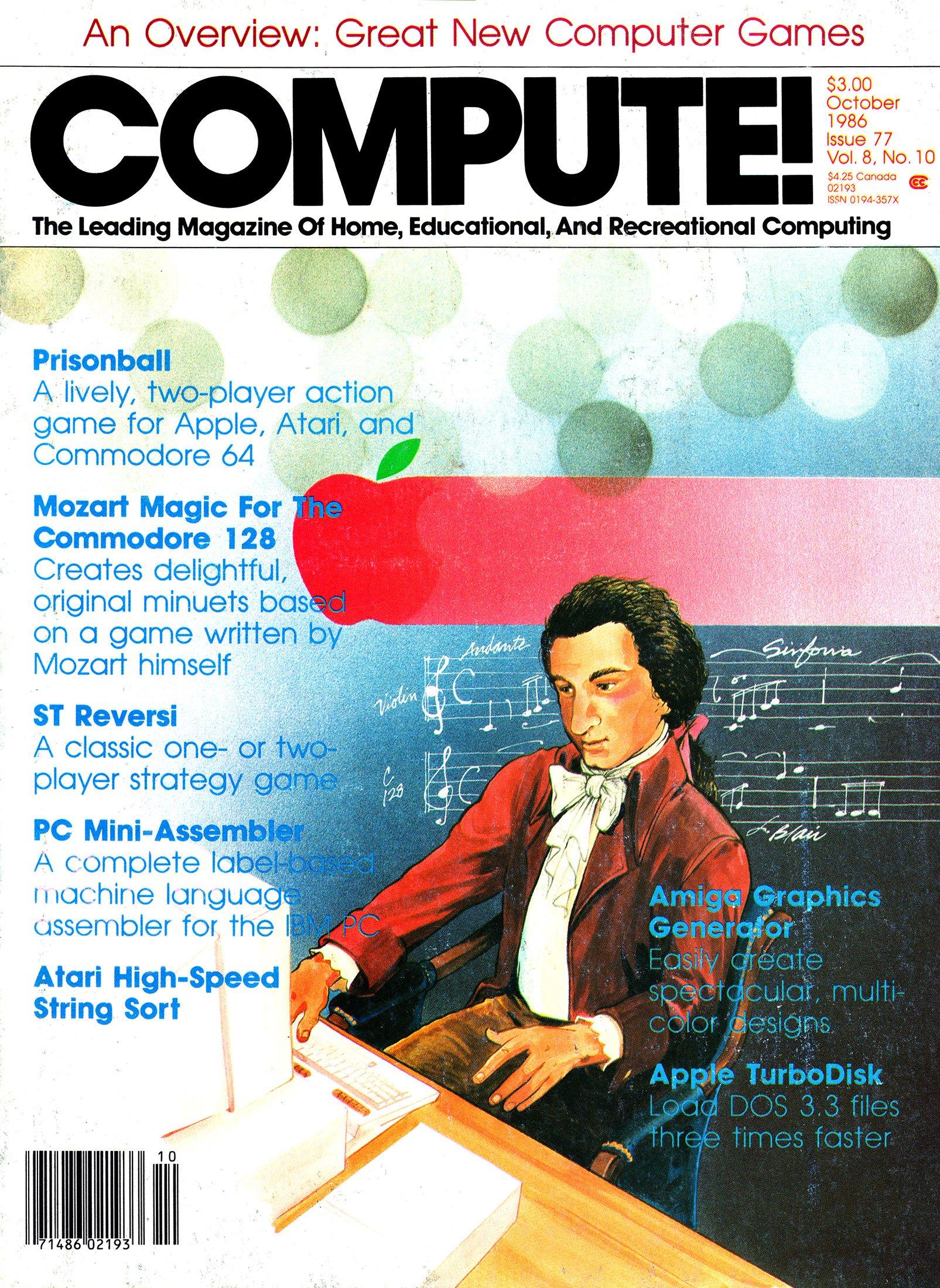 Compute! Issue 077 Vol. 8 No. 10 (October 1986)