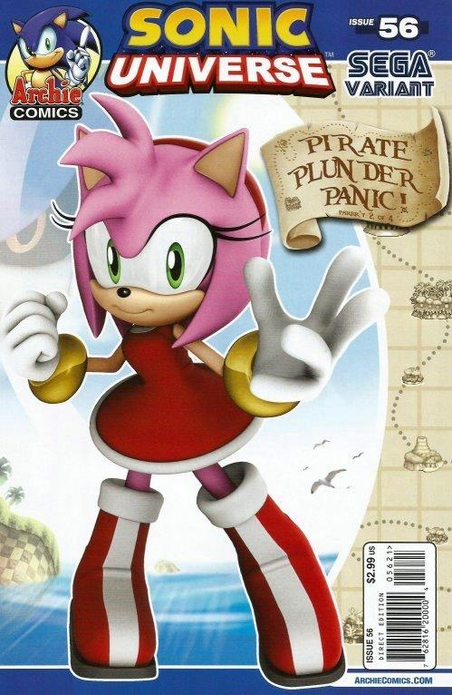 Sonic Universe 056 (November 2013) (Sega variant)