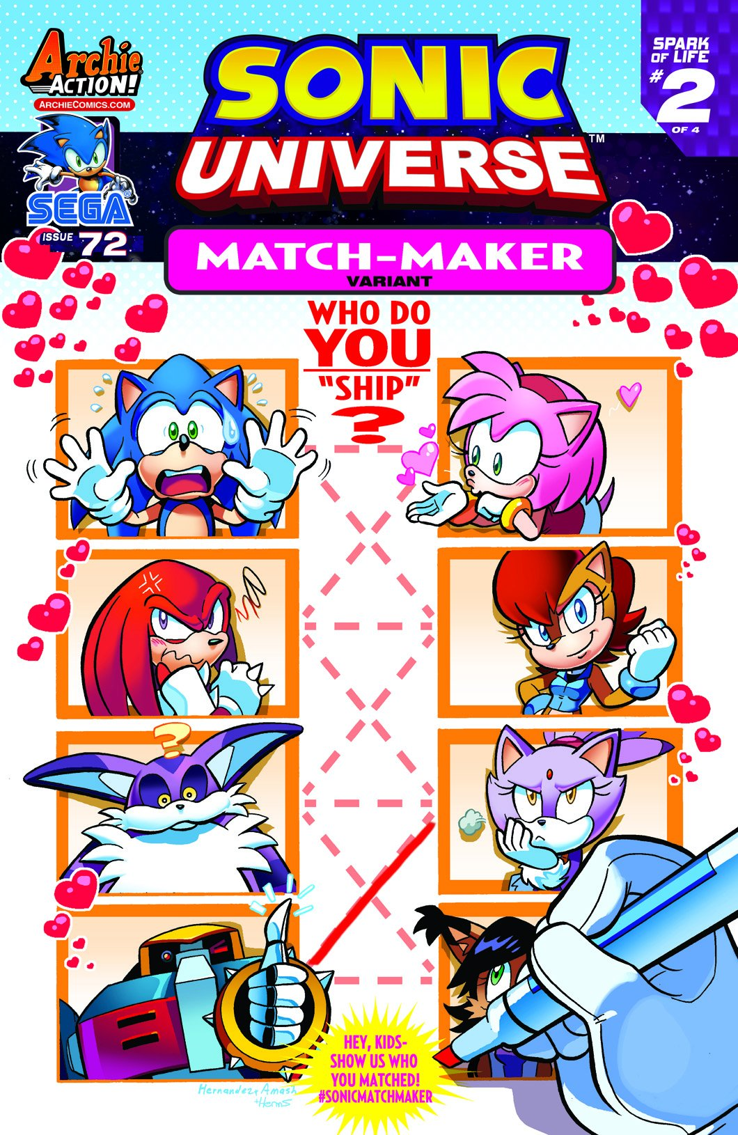 Sonic Universe 072 (March 2015) (Match-Maker variant)