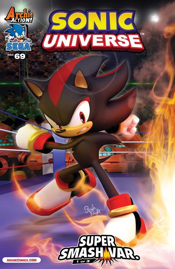 Sonic Universe 069 (December 2014) (Super Smash variant)
