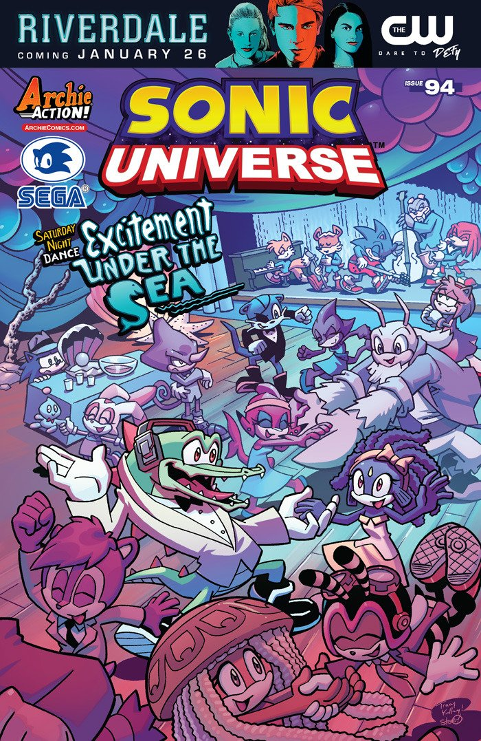 Sonic Universe 094 (March 2017) (Excitement Under the Sea variant)
