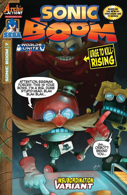 Sonic Boom 007 (June 2015) (Insubordination variant)