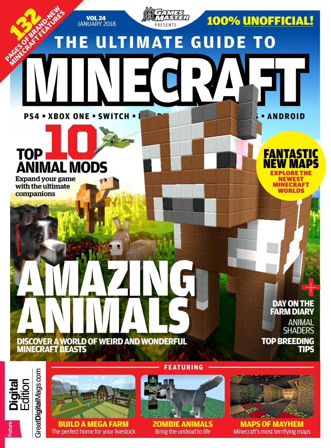 GamesMaster Presents: The Ultimate Guide to Minecraft Vol.24 (January 2018)