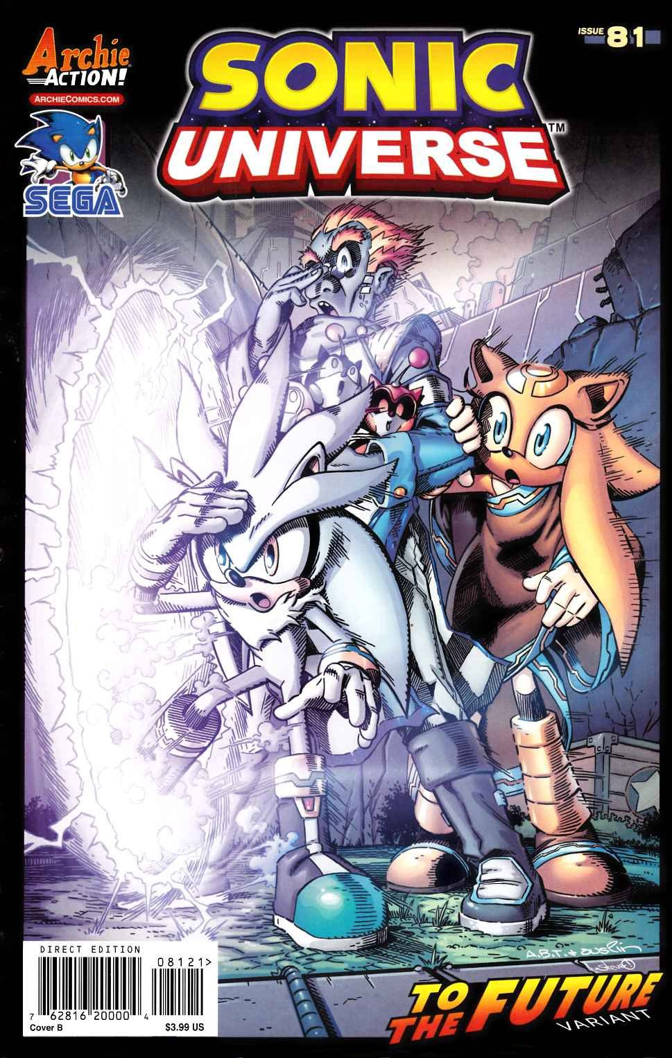Sonic Universe 081 (December 2015) (To the Future variant)