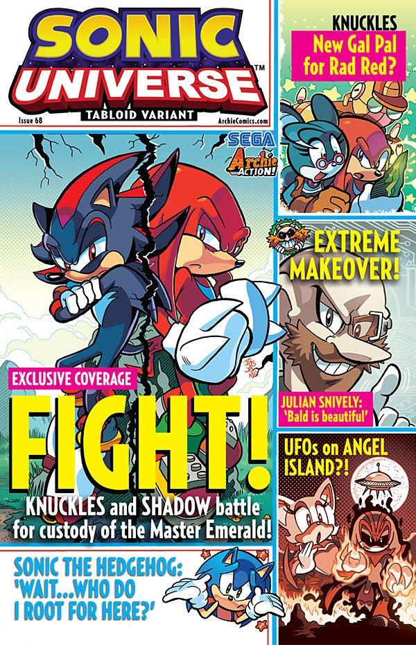 Sonic Universe 068 (November 2014) (tabloid variant)