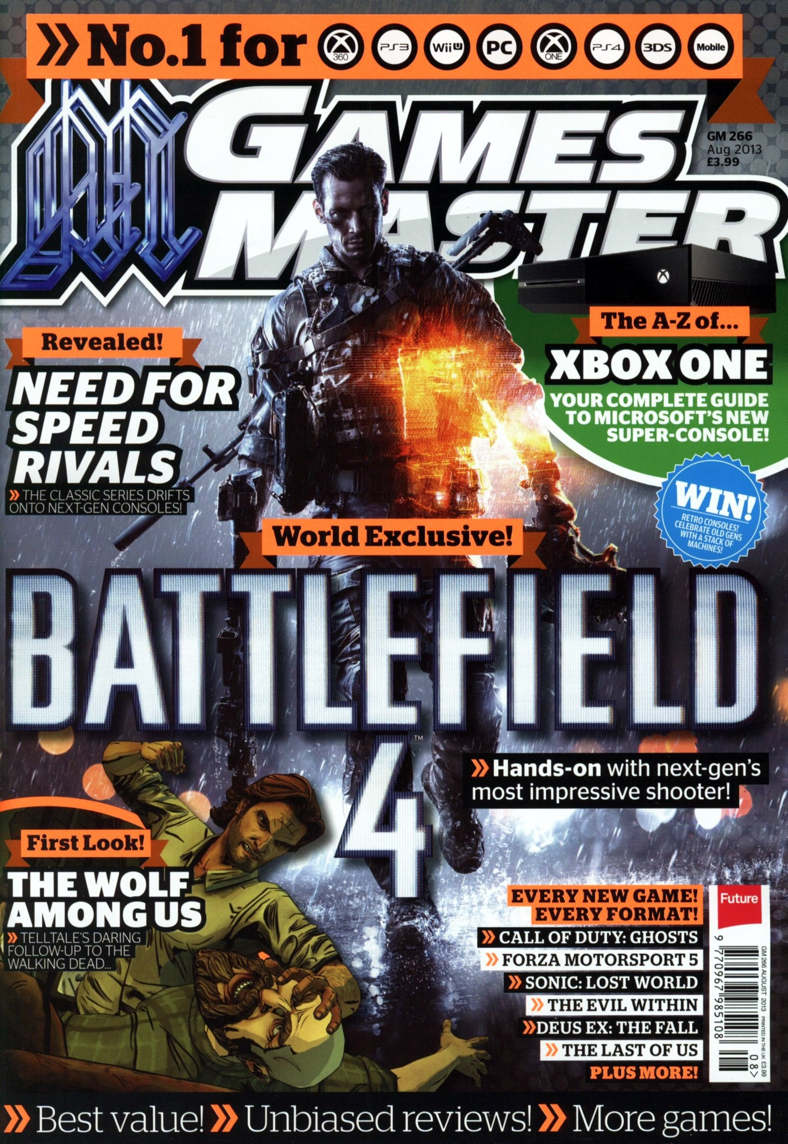 GamesMaster Issue 266 (August 2013) (print edition)