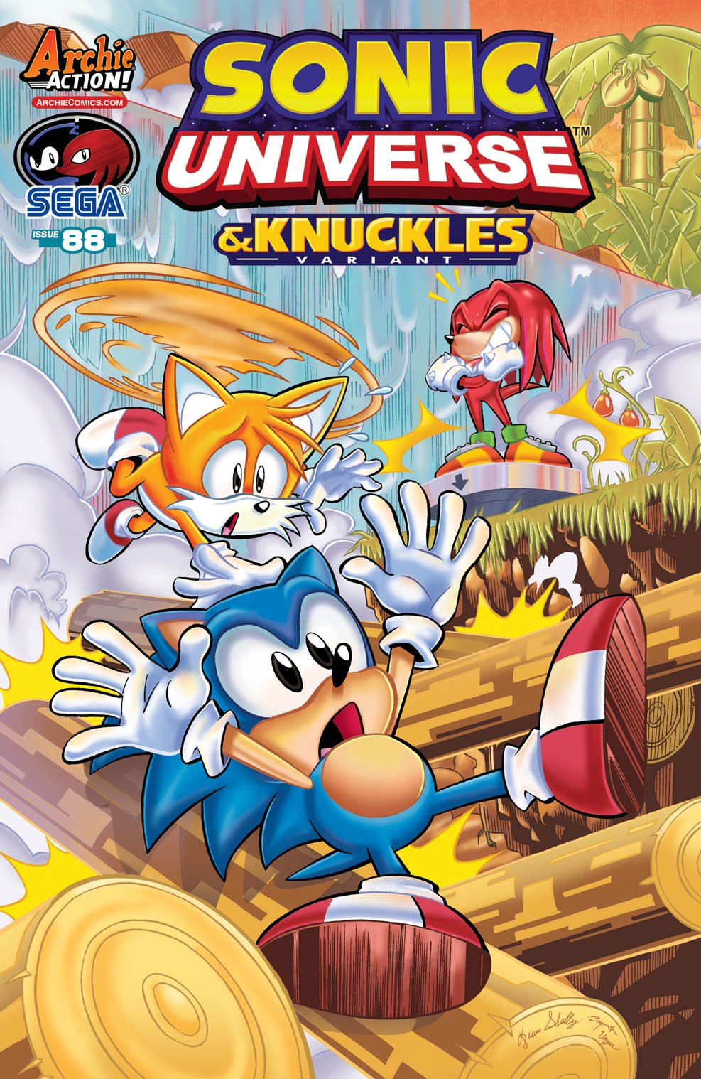 Sonic Universe 088 (October 2016) (& Knuckles variant)