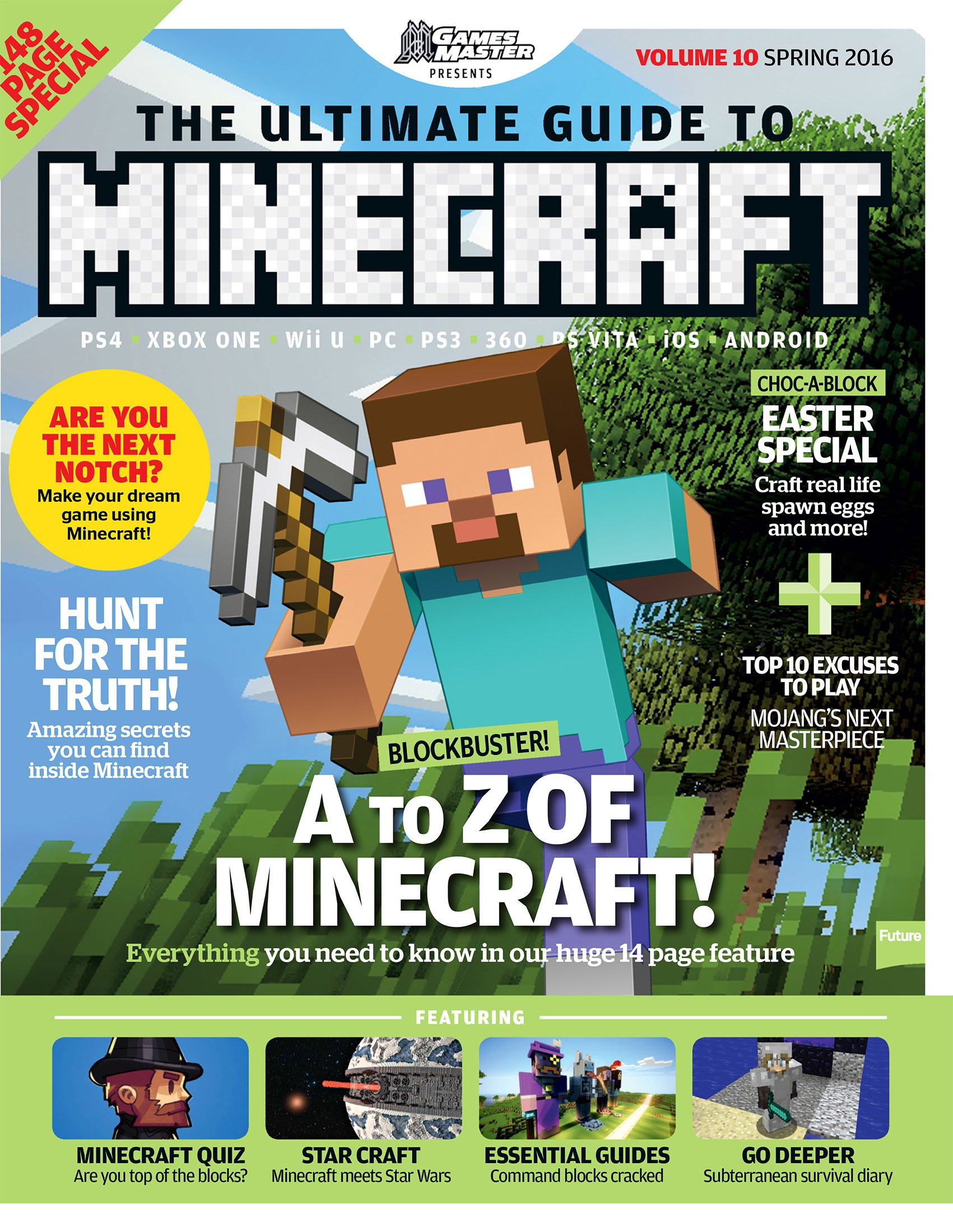 GamesMaster Presents: The Ultimate Guide to Minecraft Vol.10 (Spring 2016)