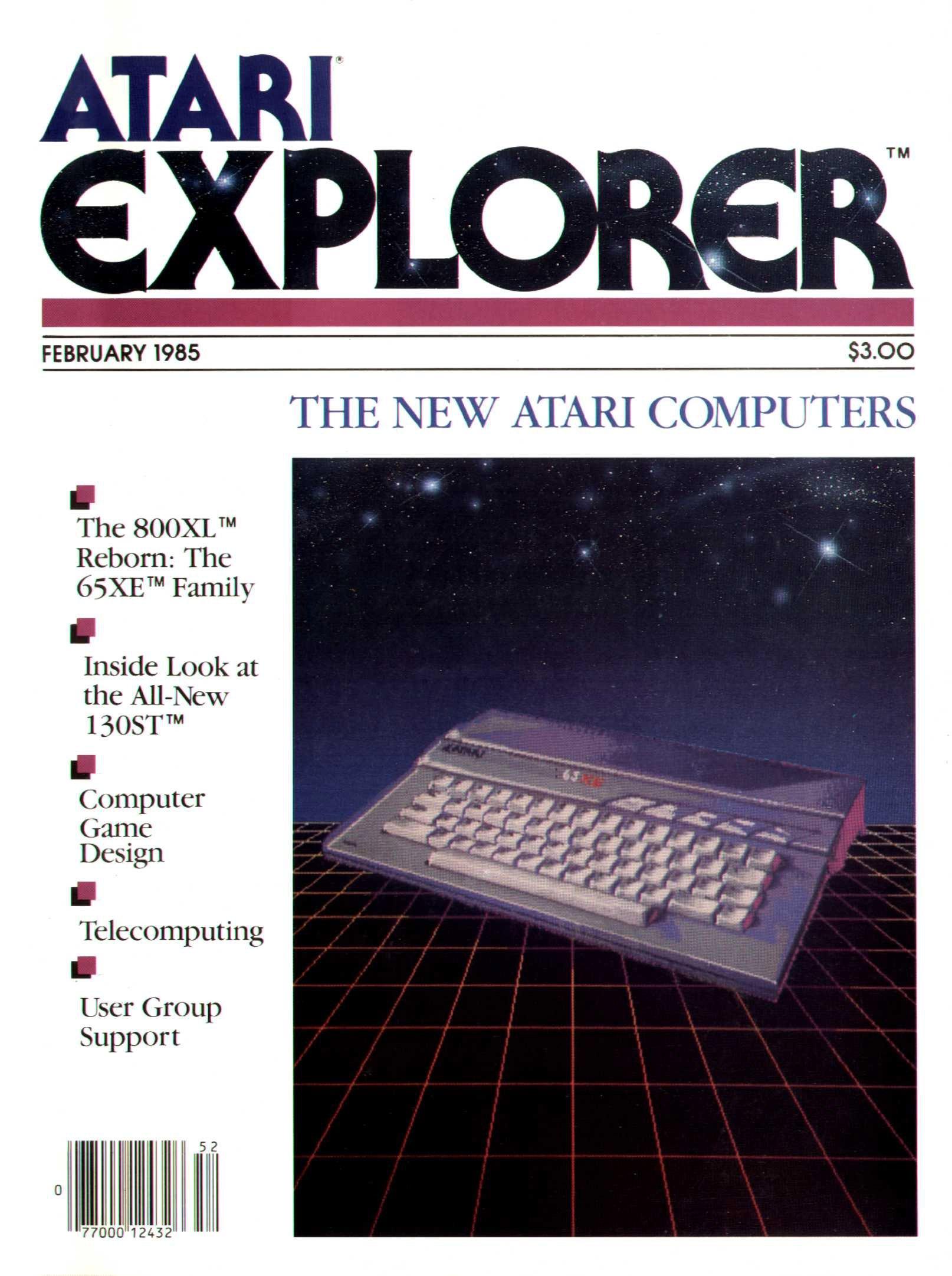 Atari Explorer Issue 01 (February 1985)