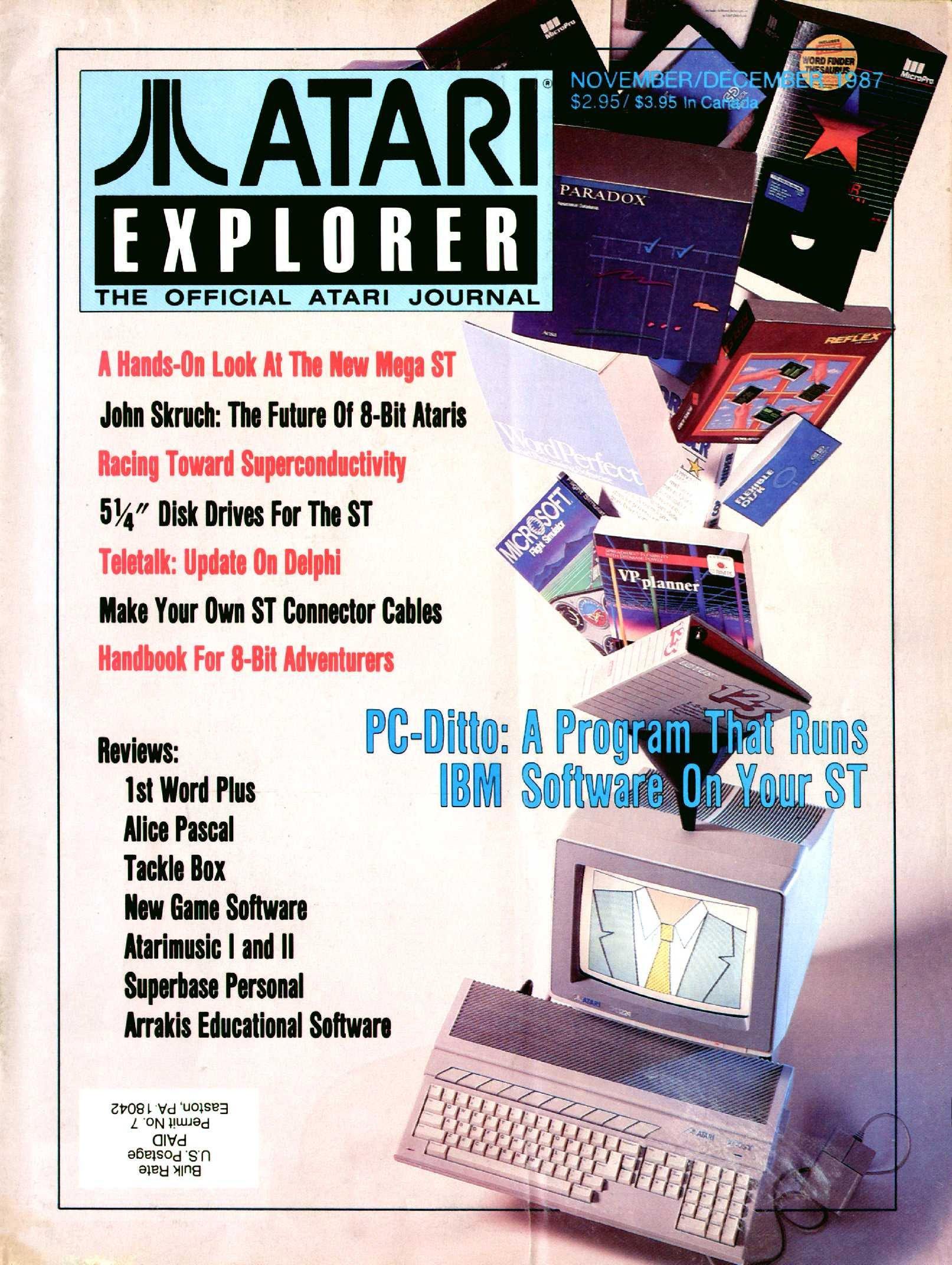 Atari Explorer Issue 11 (November / December 1987)