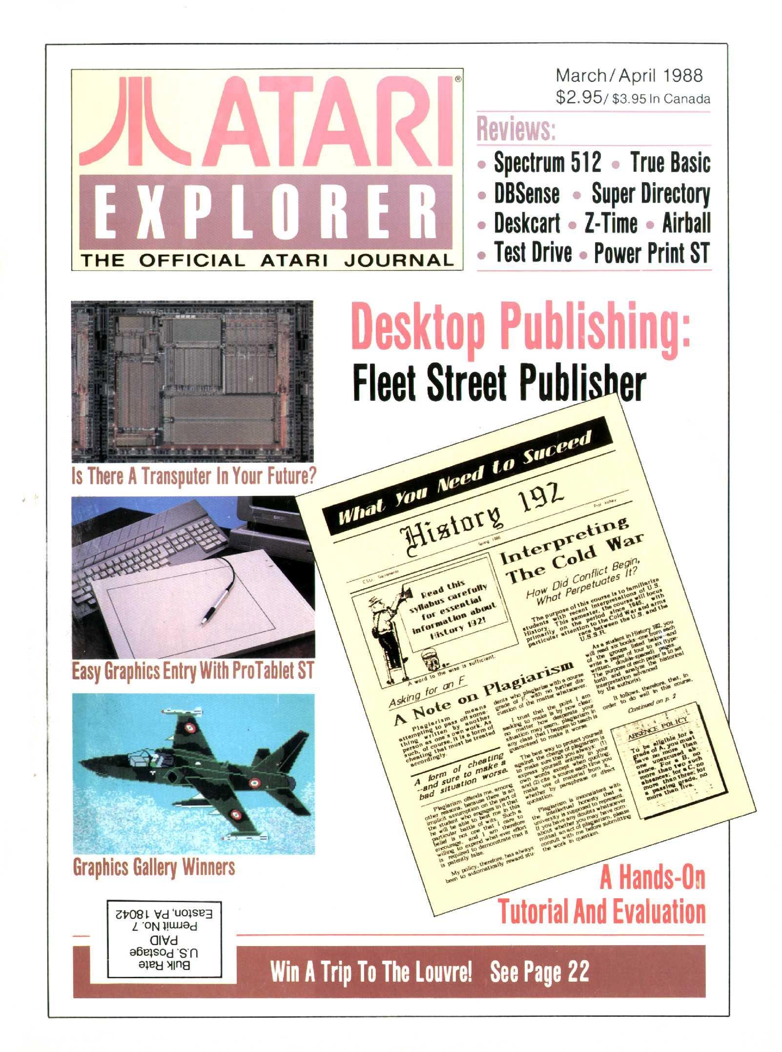 Atari Explorer Issue 13 (March / April 1988)
