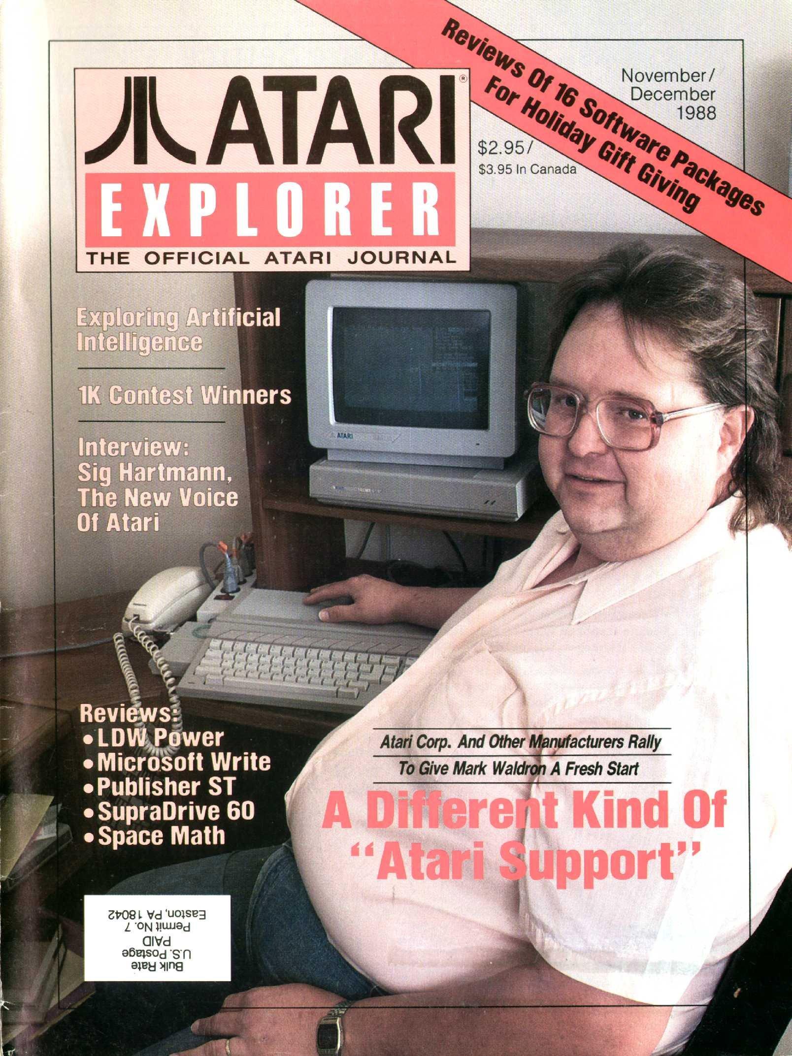 Atari Explorer Issue 17 (November / December 1988)