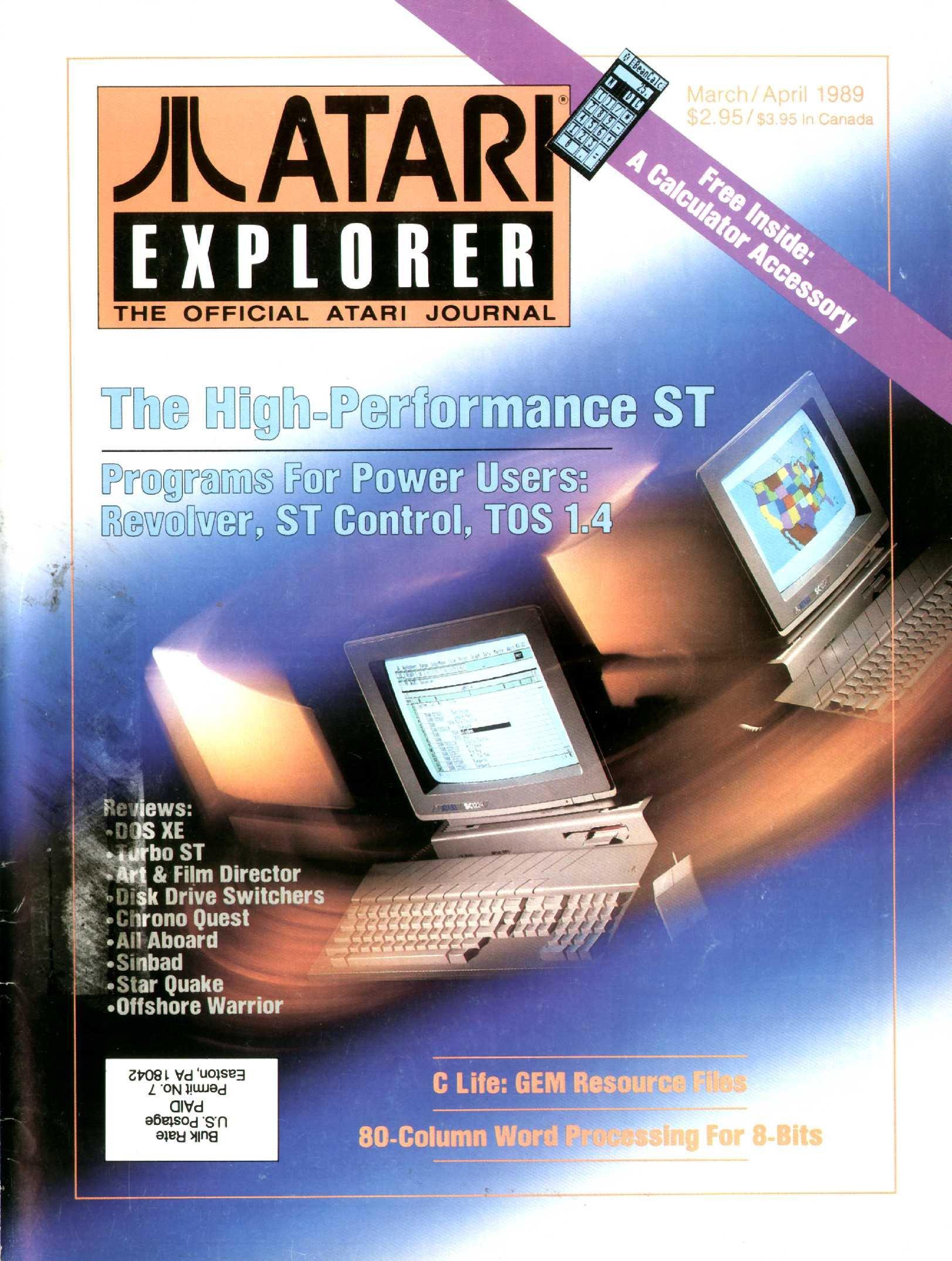Atari Explorer Issue 19 (March / April 1989)