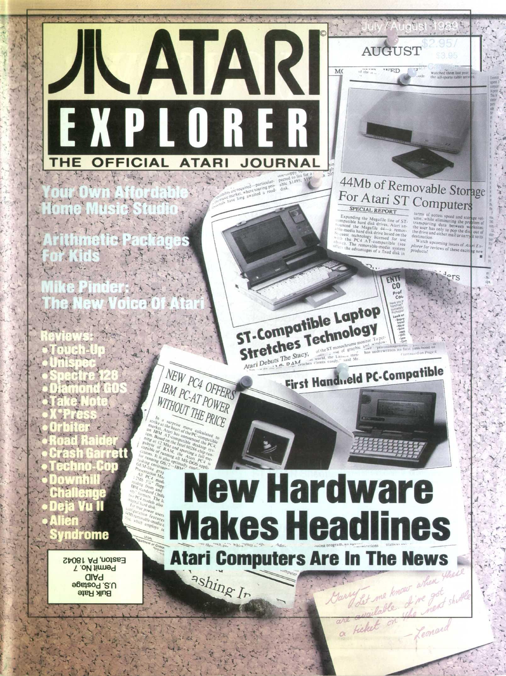 Atari Explorer Issue 21 (July / August 1989)