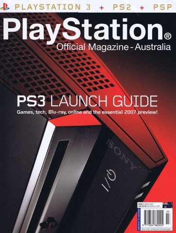 PlayStation Official Magazine Issue 001 (March 2007)