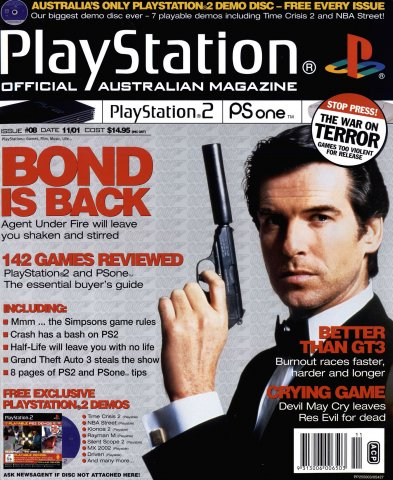 Playstation 2 Official Magazine (AUS) Issue 08 (November 2001)