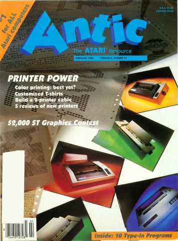 Antic Issue 040 February 1986