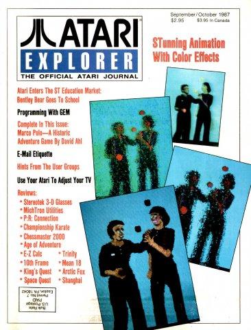 Atari Explorer Issue 10 (September / October 1987)