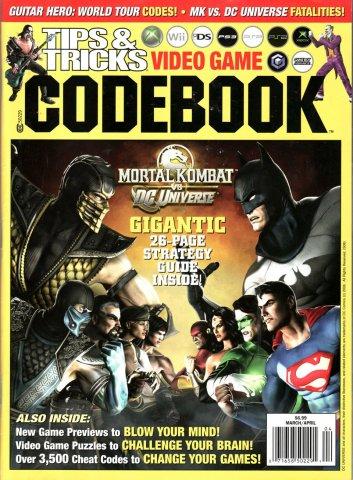 Tips & Tricks Video Game Codebook March-April  2008