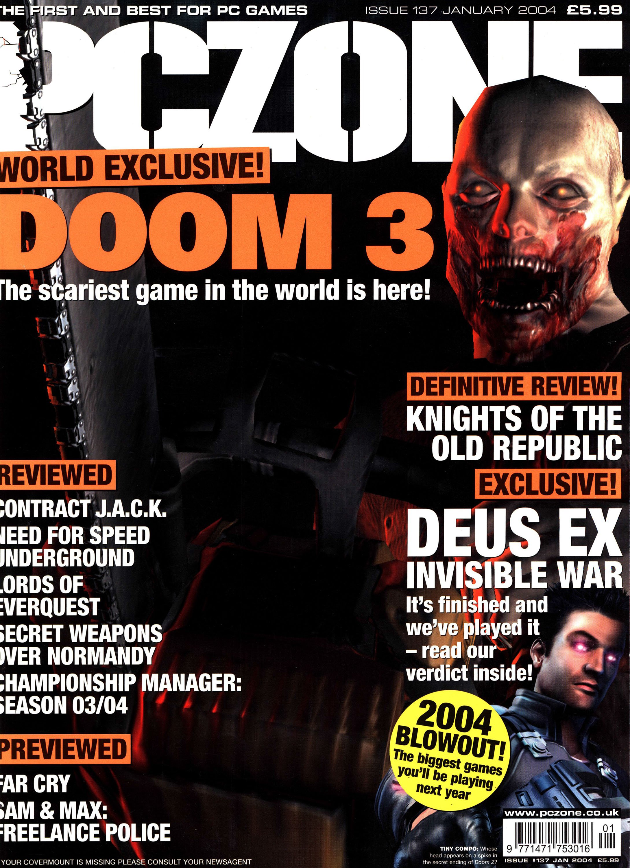 PC Zone Issue 137 (January 2004)