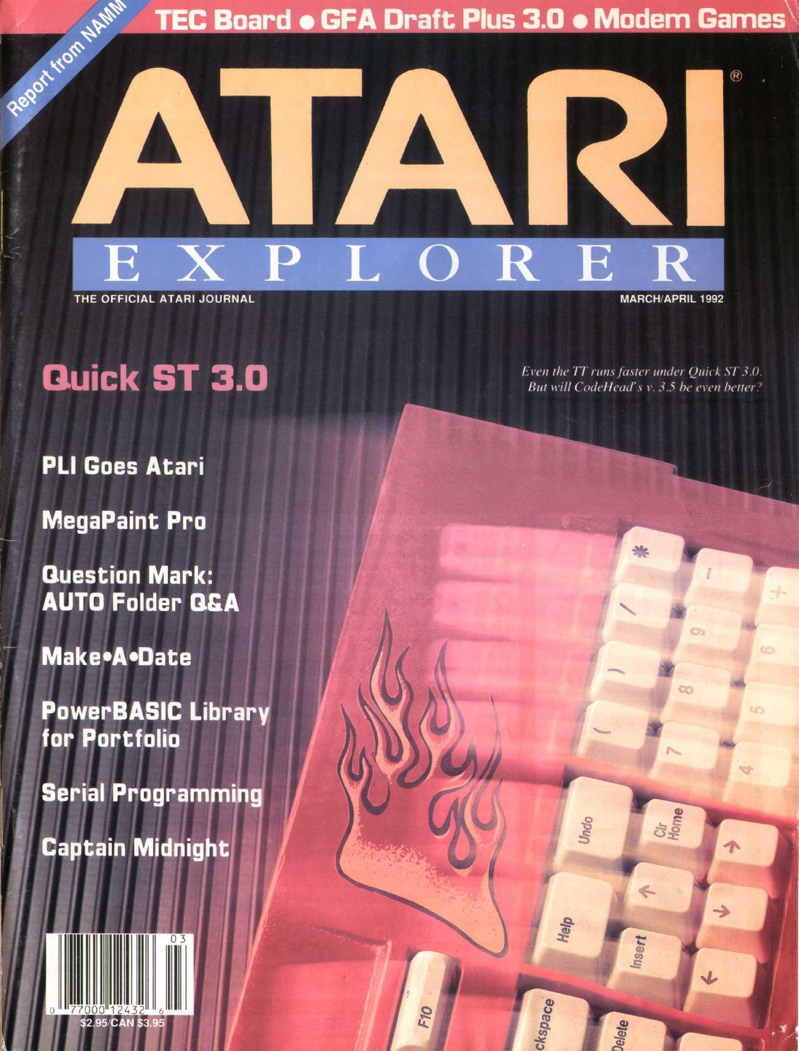 Atari Explorer Issue 32 (March / April 1992)