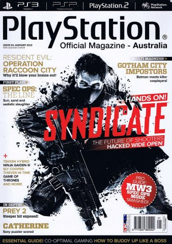 PlayStation Official Magazine Issue 064 (January 2012)