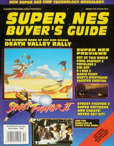 Super NES Buyer's Guide Issue 05 November 1992