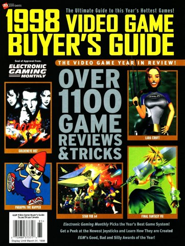 1998 Video Game Buyer's Guide