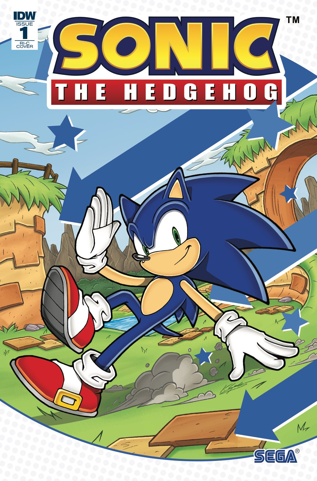 Sonic the Hedgehog 001 (April 2018) (RI-C cover)