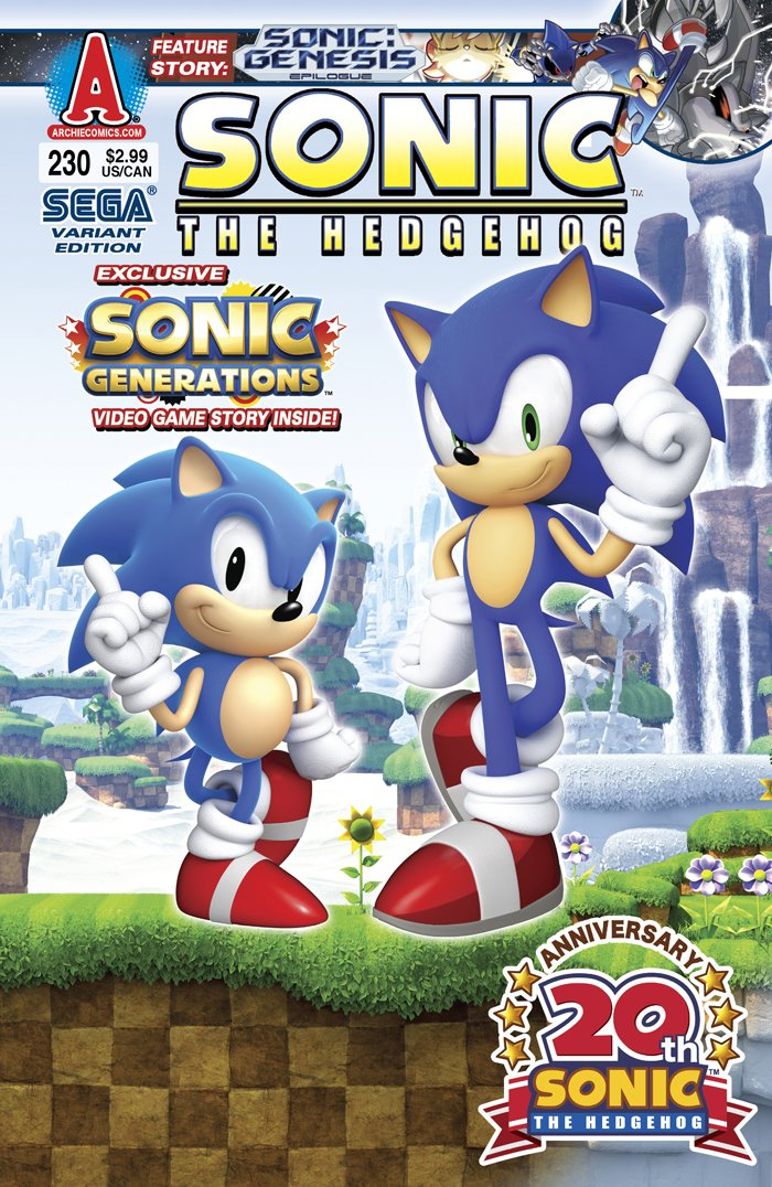 Sonic the Hedgehog 230 (December 2011) (variant edition)