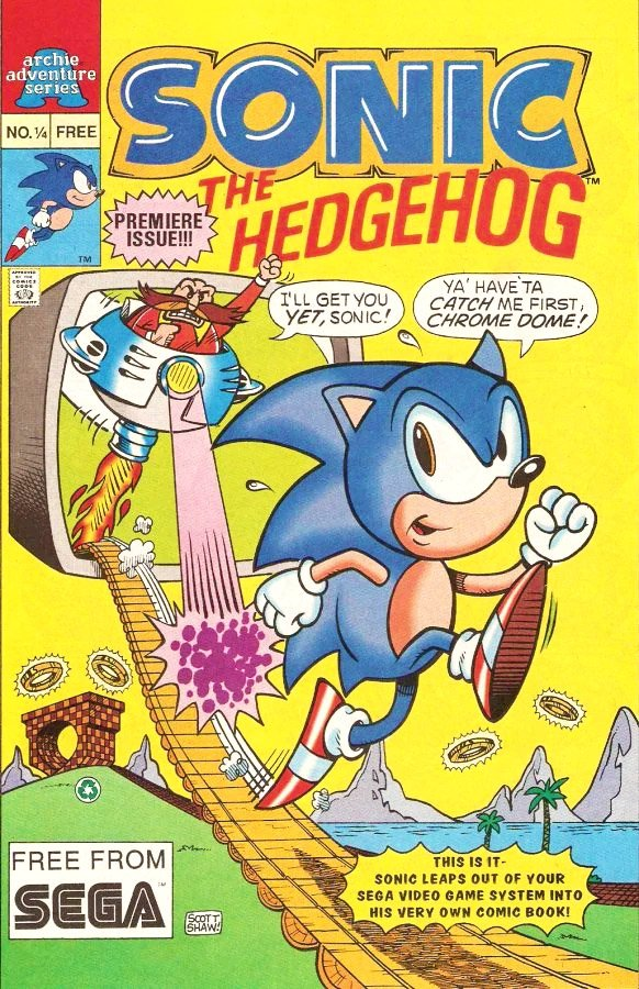 Sonic the Hedgehog #1/4 (November 1992)