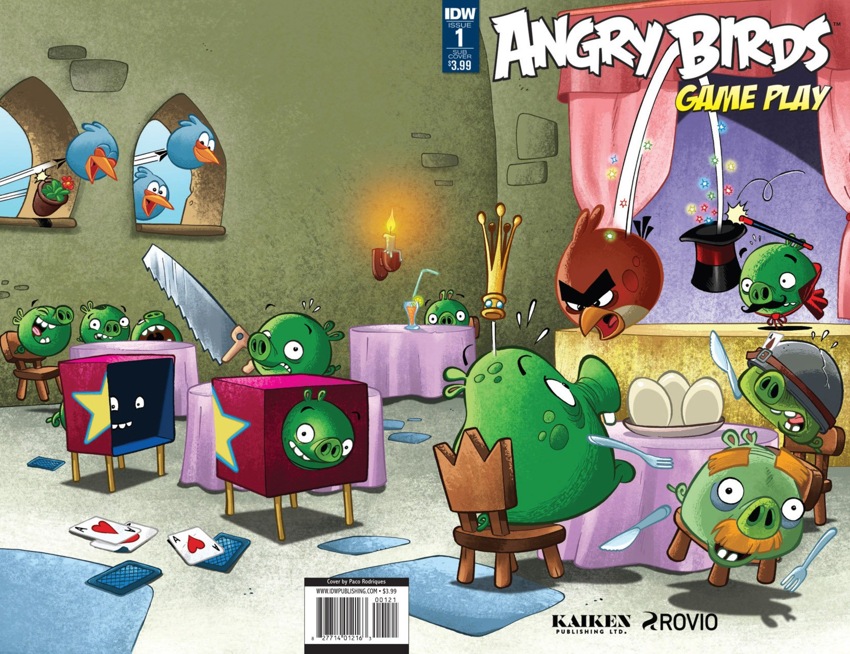 Angry Birds Comics - Game Play 001 (January 2017) (subscriber cover)