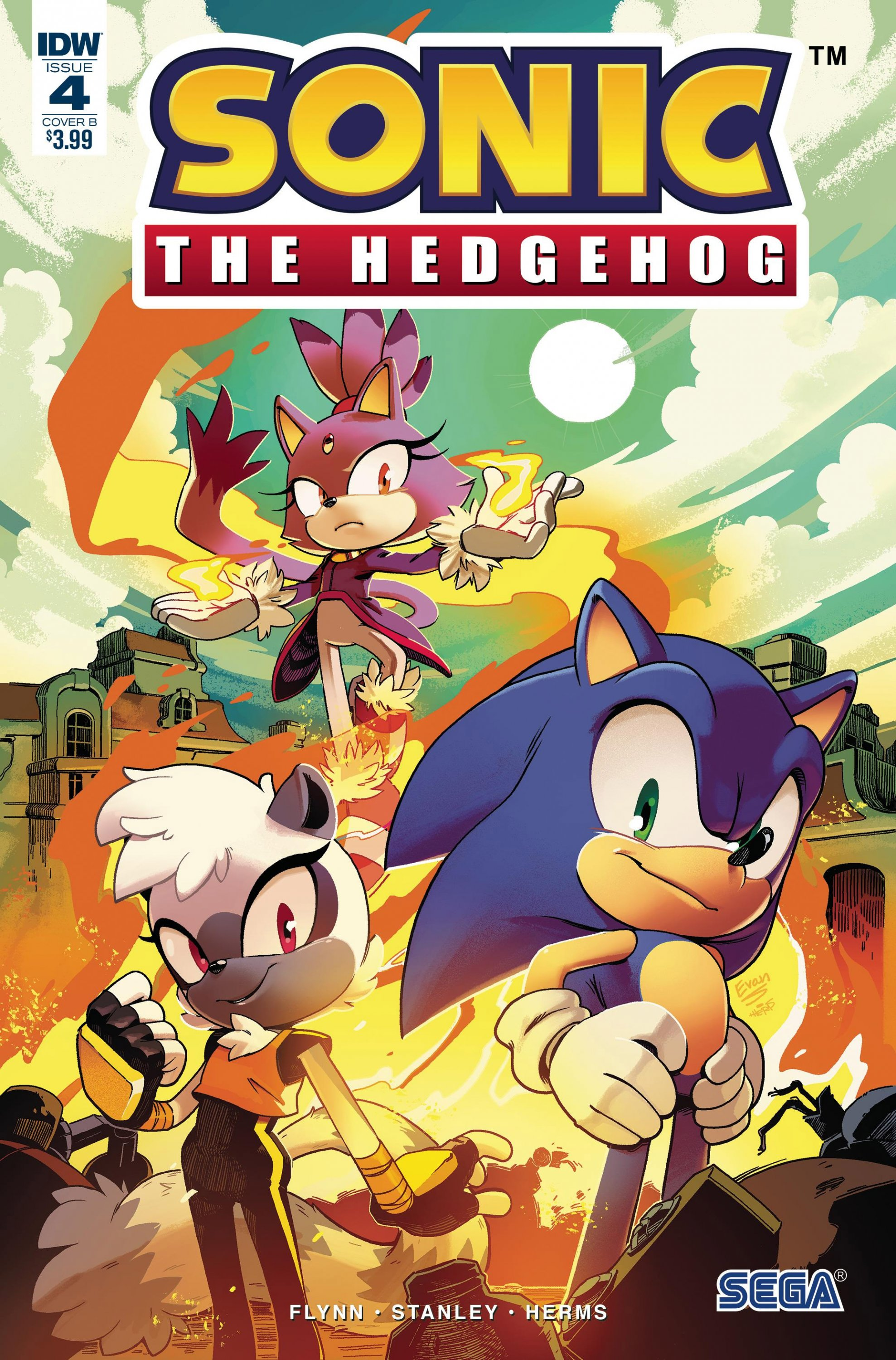Sonic the Hedgehog 004 (April 2018) (cover b)