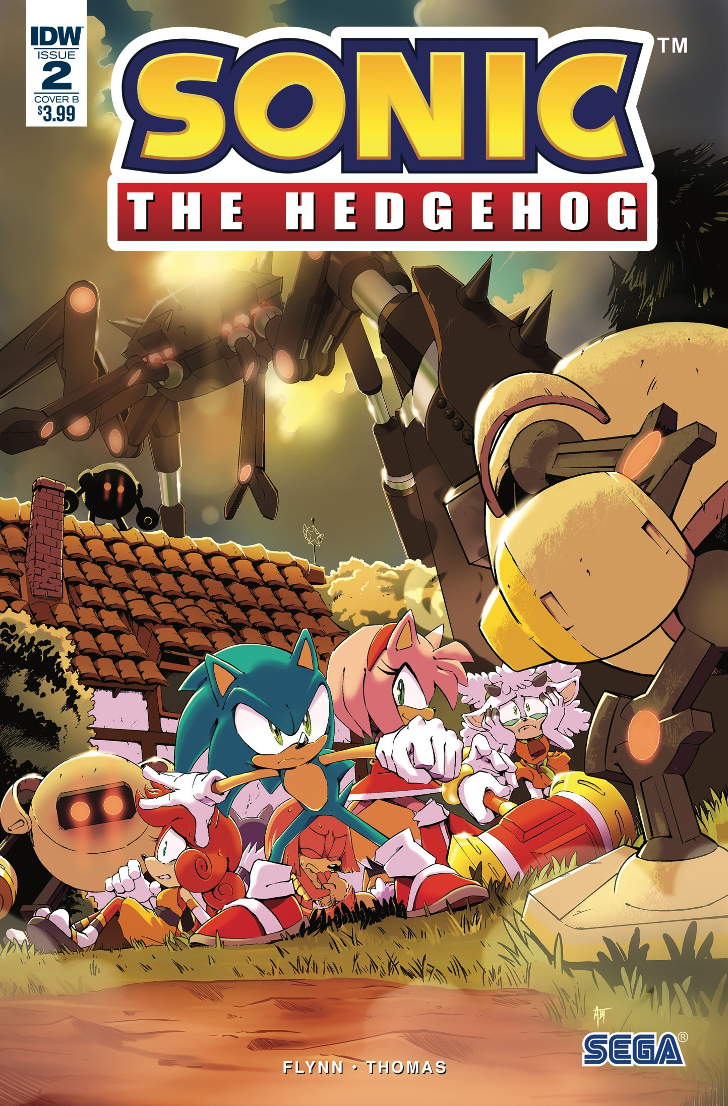 Sonic the Hedgehog 002 (April 2018) (cover b)