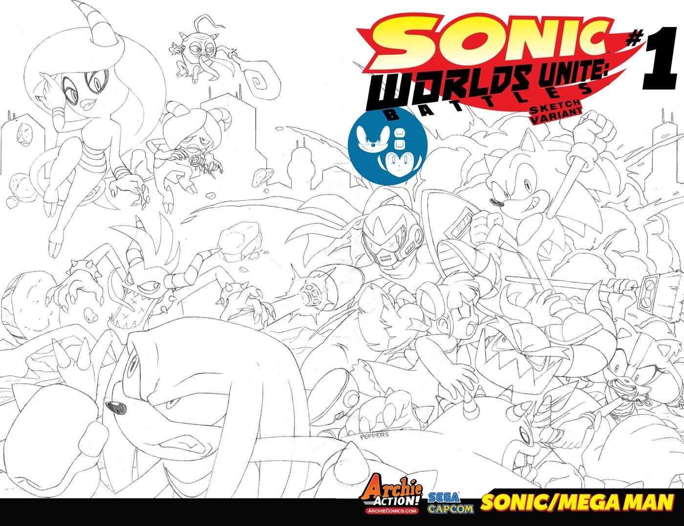 Sonic the Hedgehog - Worlds Unite: Battles (September 2015) (variant 2)