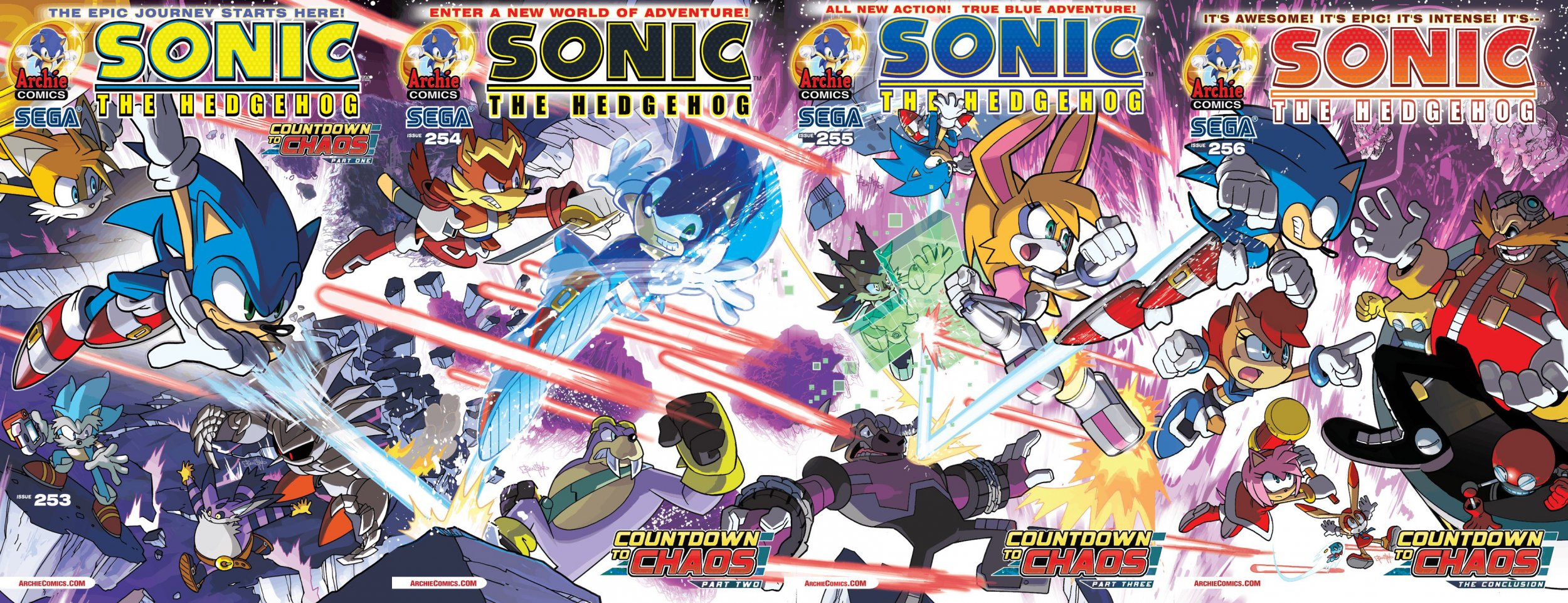 Sonic the Hedgehog 253-256 joined covers
