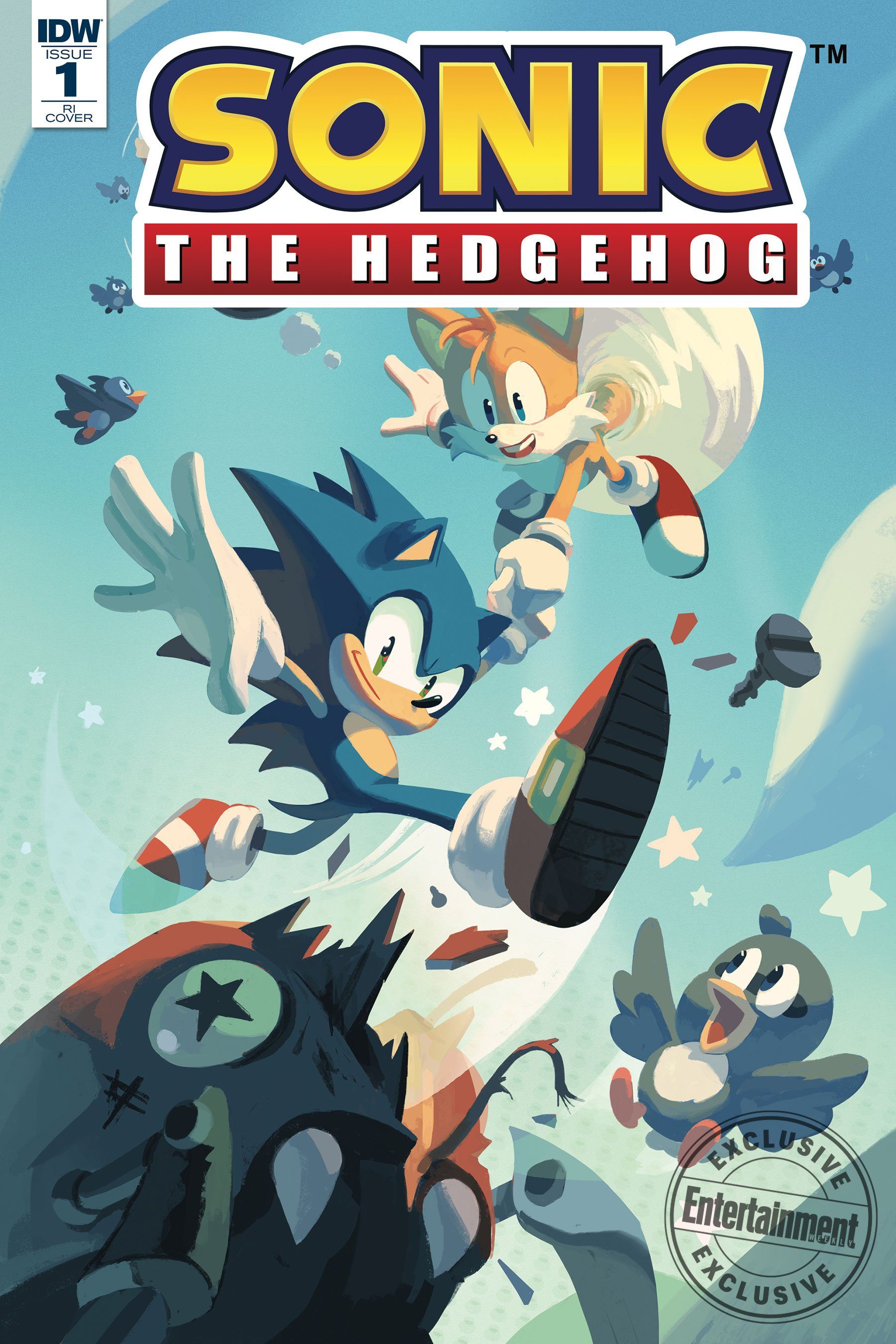 Sonic the Hedgehog 001 (April 2018) (RI-A cover)