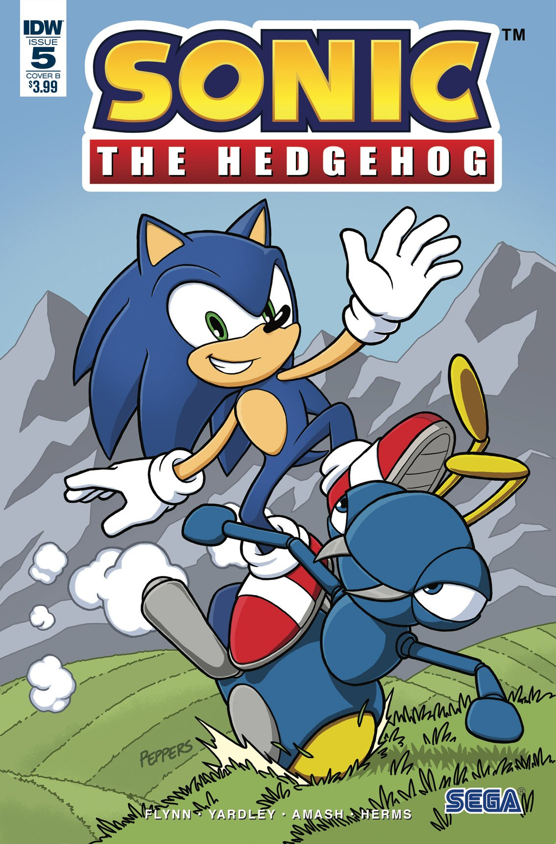Sonic the Hedgehog 005 (May 2018) (cover b)