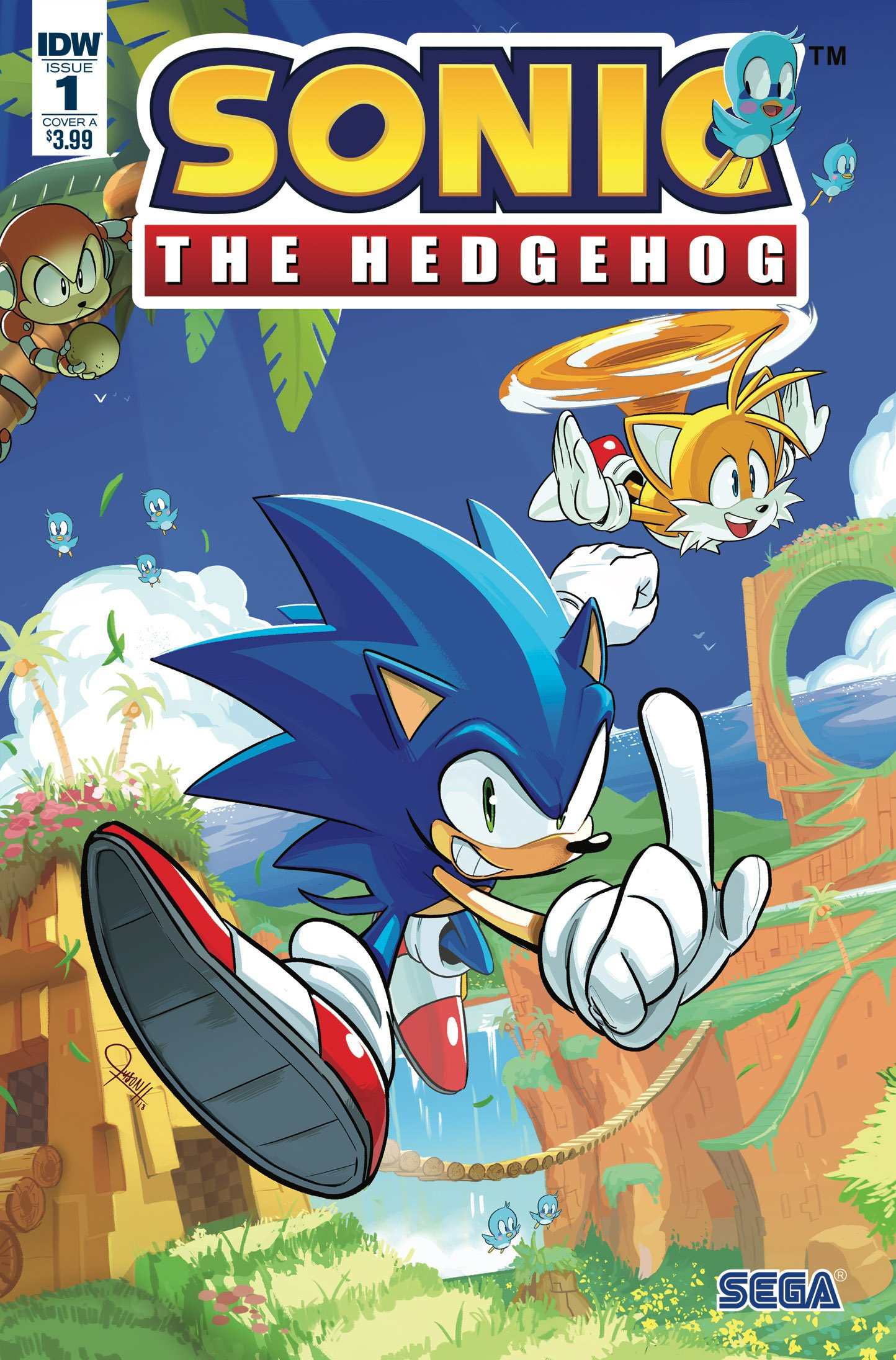 Sonic the Hedgehog 001 (April 2018) (cover a)