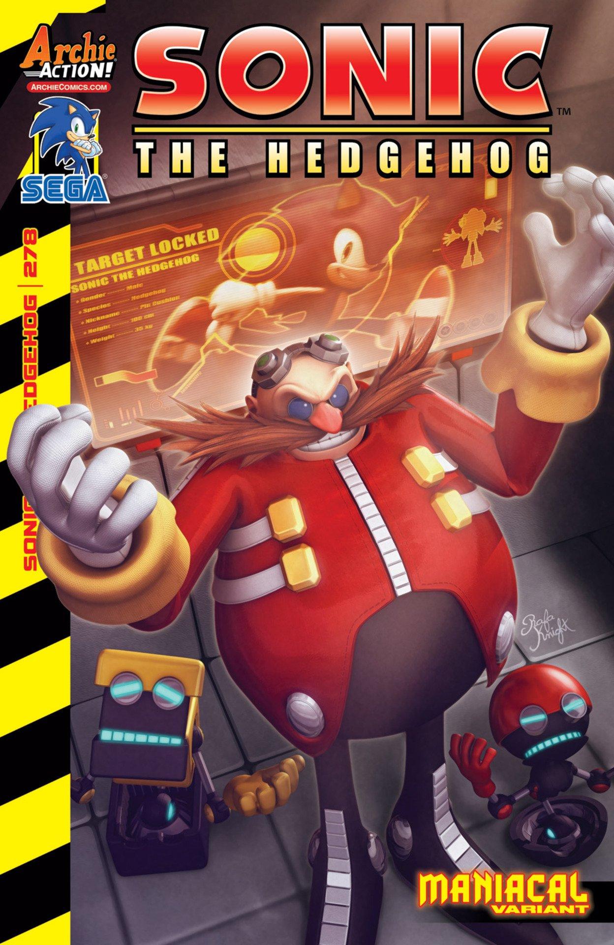 Sonic the Hedgehog 278 (January 2016) (variant edition)