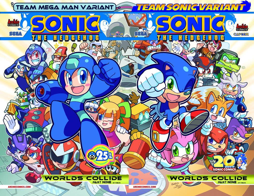 Sonic the Hedgehog 250 (August 2013) (variants joined)
