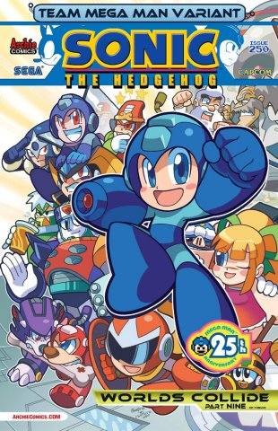 Sonic the Hedgehog 250 (August 2013) (Team Mega Man variant)