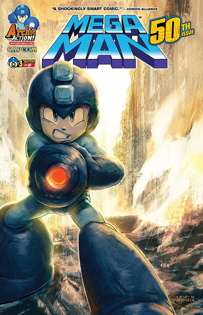 Mega Man 050 (August 2015) (variant 3)