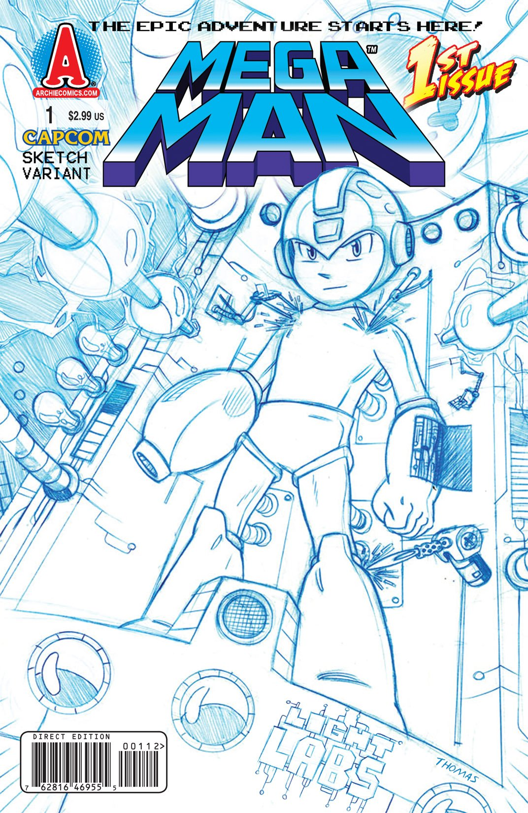 Mega Man 001 (July 2011) (sketch variant)